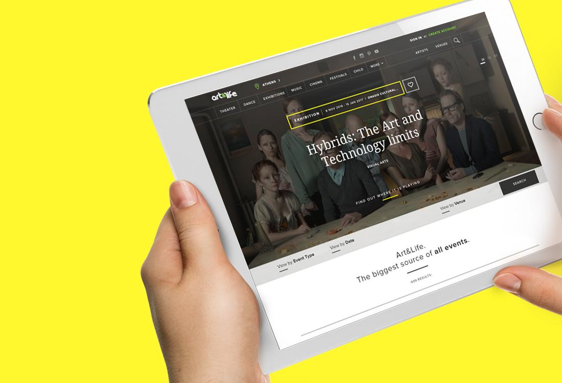 Art n Life - Website User Interface Design - Brand Identity