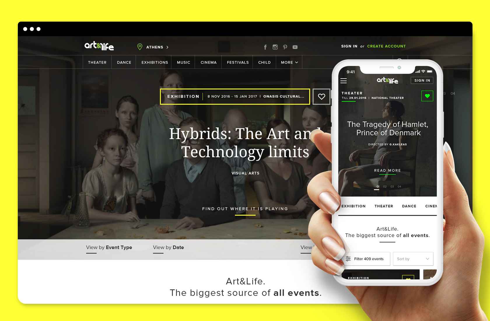 Art n Life – Website User Interface Design – Brand Identity